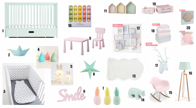 Gazette d 39 une maman le blog deco pastel chambre bebe for Article deco