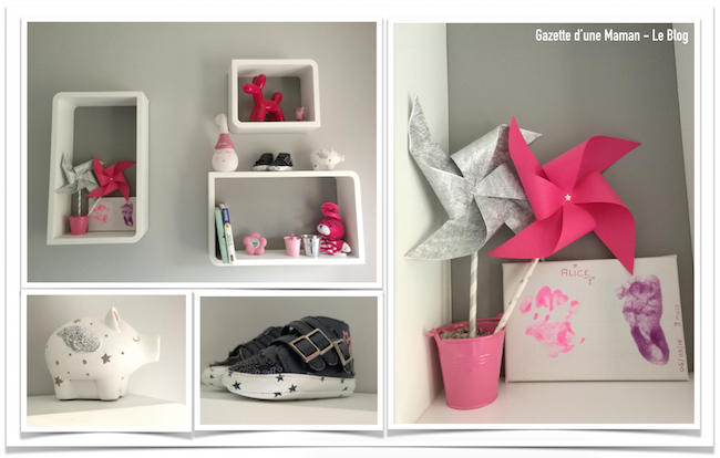 Idee deco chambre bb fille great chambre bb fille en gris for Decoration chambre bebe fille photo
