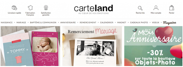 carteland, faire part, objets photos personnalisables, magnets photos